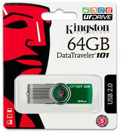 Флэш-карта KINGSTON 64GB 101 G2 DATA TRAVELER USB 2.0