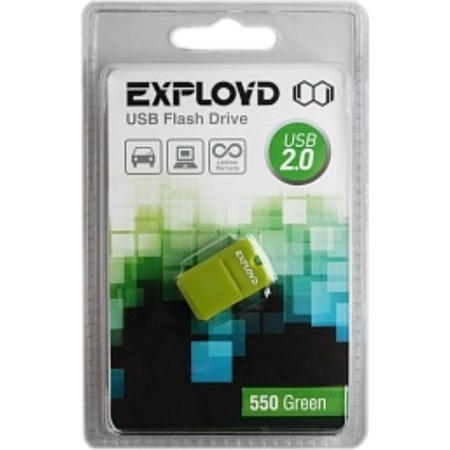 Флэш-карта EXPLOYD 4GB 550 mini зеленая USB 2.0