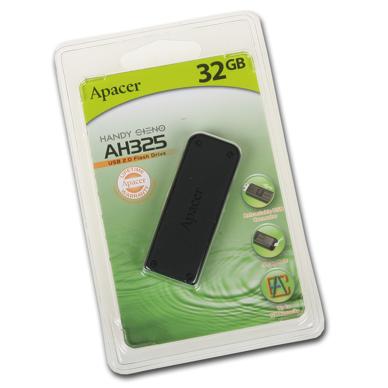 Флэш-карта APACER 32GB AH325 BLACK графит USB 2.0