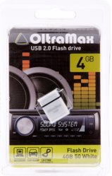 Флэш-карта OLTRAMAX 4GB 50 mini WHITE USB 2.0